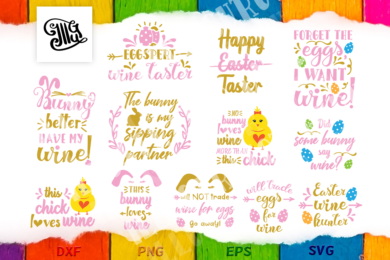 Download Free Easter Wine Sayings Graphic By Illustrator Guru Creative Fabrica for Cricut Explore, Silhouette and other cutting machines.