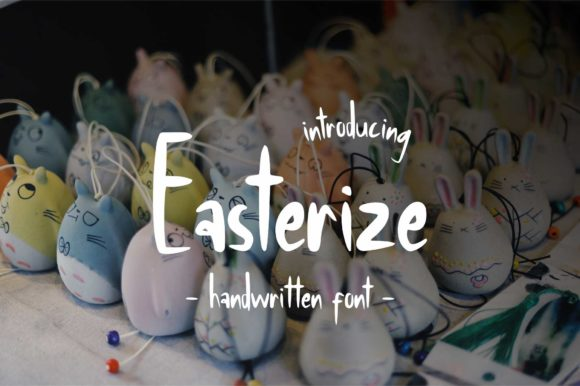 Print on Demand: Easterize Script & Handwritten Font By geadesign