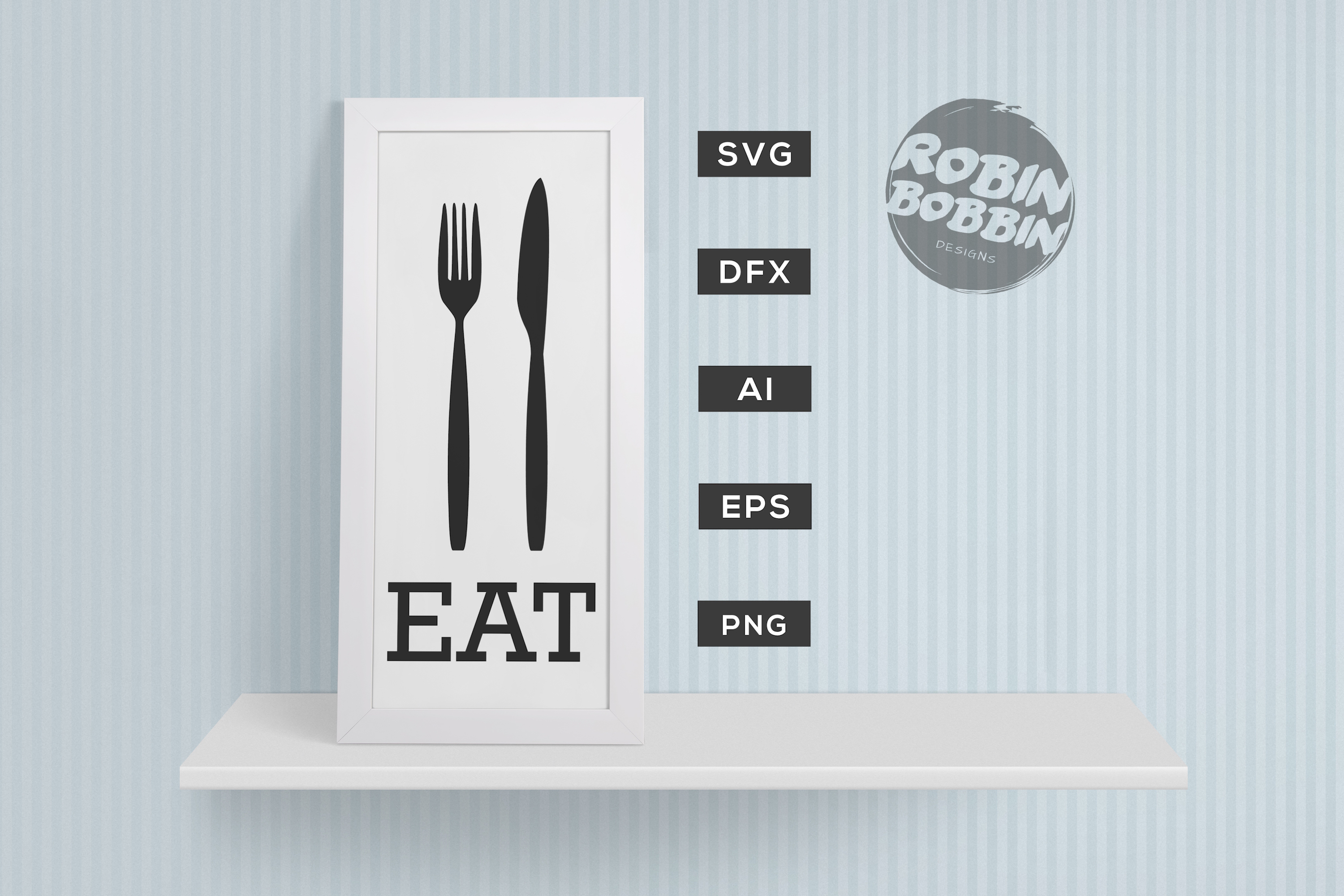 Download Free Eat Time Poster Graphic By Robinbobbindesign Creative Fabrica for Cricut Explore, Silhouette and other cutting machines.