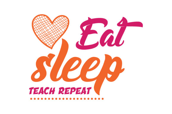 Download Free Eat Sleep Teach Repeat Quote Svg Cut Graphic By Thelucky SVG Cut Files