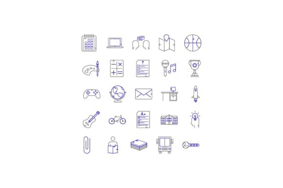Print on Demand: Education Graphic Icons By khld939