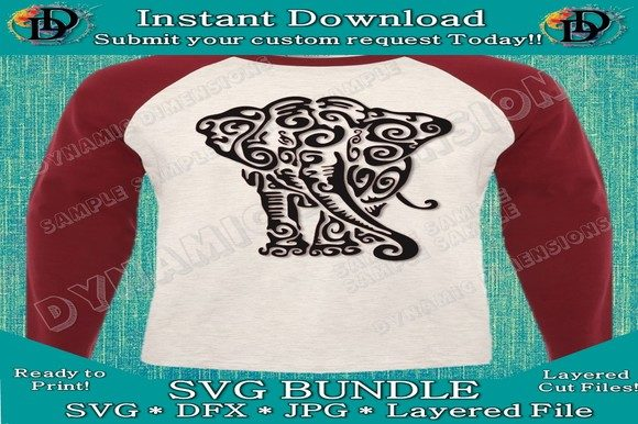 Print on Demand: Elephant Mandala SVG Graphic Crafts By dynamicdimensions