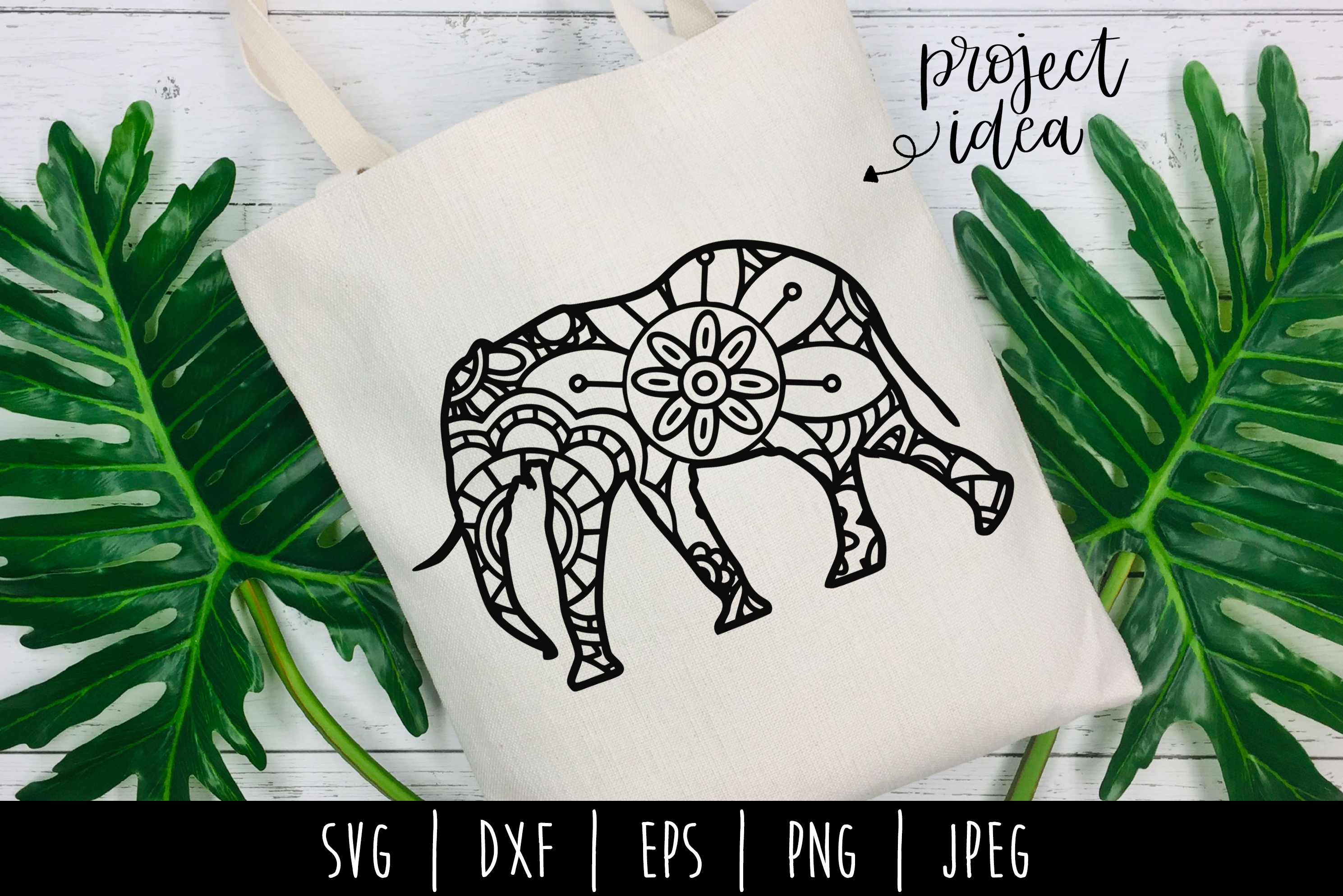 Download Free Elephant Mandala Zentangle Graphic By Savoringsurprises for Cricut Explore, Silhouette and other cutting machines.