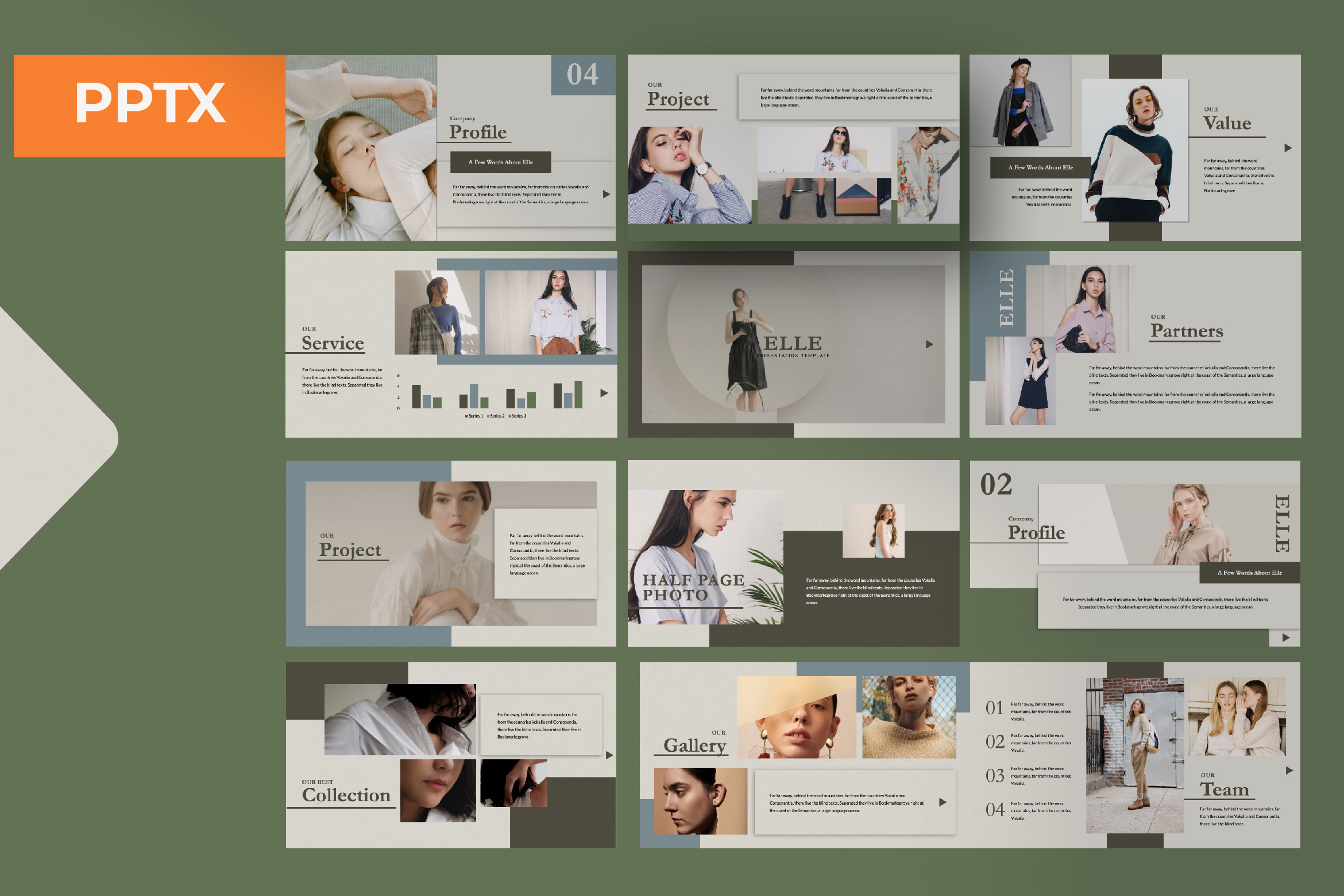 Download Free Elle Creative Powerpoint Graphic By Temp Here Creative Fabrica for Cricut Explore, Silhouette and other cutting machines.