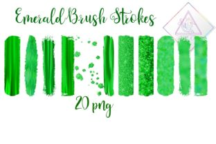 Emerald Brush Strokes Clipart Graphic By fantasycliparts