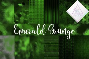 Emerald Grunge Digital Paper Graphic By fantasycliparts