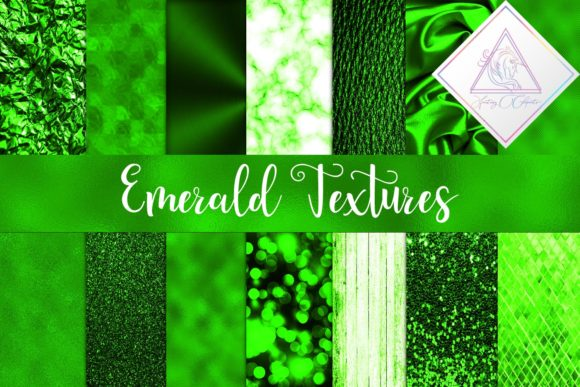 Print on Demand: Emerald Textures Digital Paper Graphic Textures By fantasycliparts