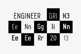 Print on Demand: Engineer Family Sans Serif Font By grin3