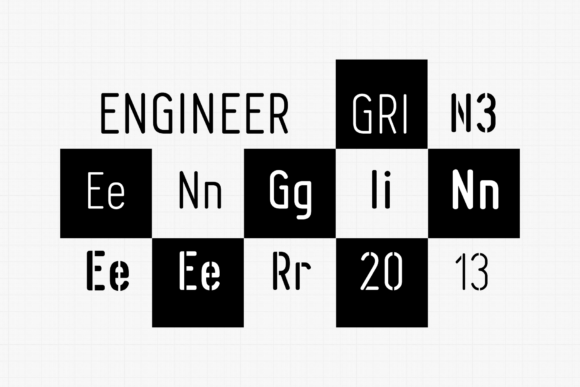 Print on Demand: Engineer Family Sans Serif Font By grin3 - Image 1