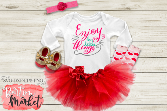 Download Free Enjoy The Little Things Handlettered Svg Graphic By Barton for Cricut Explore, Silhouette and other cutting machines.
