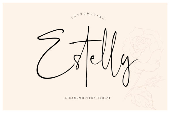 Print on Demand: Estelly Script & Handwritten Font By CreatypeStudio