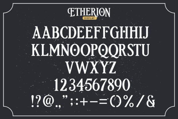 Print on Demand: Etherion Display Font By InspiraType - Image 3