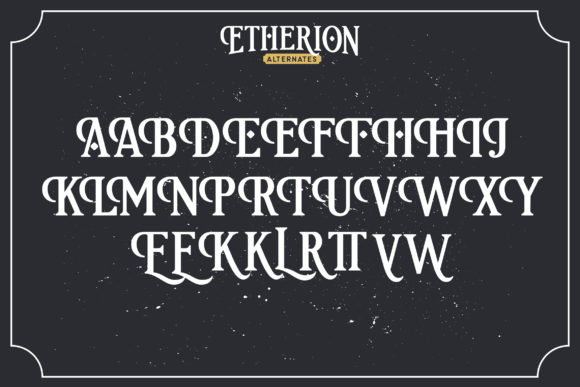 Print on Demand: Etherion Display Font By InspiraType - Image 4