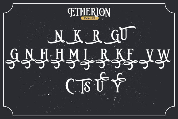 Print on Demand: Etherion Display Font By InspiraType - Image 5