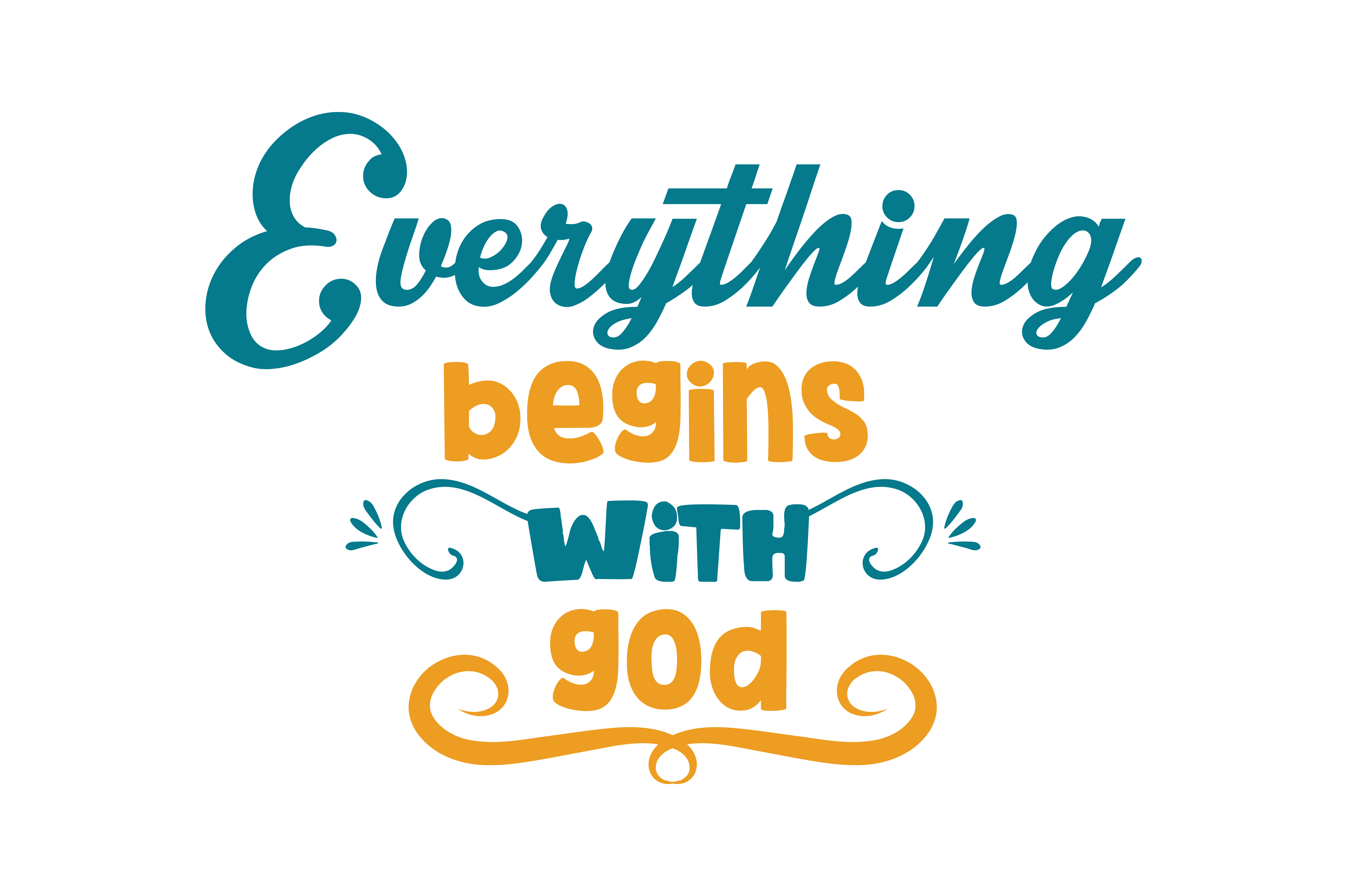 Download Free Everything Begins With God Quote Svg Cut Graphic By Thelucky for Cricut Explore, Silhouette and other cutting machines.