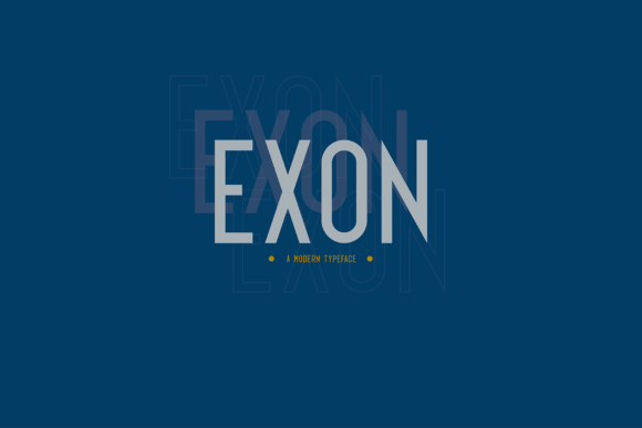 Print on Demand: Exon Sans Serif Font By Line creative