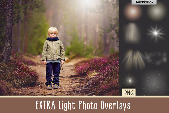 Print on Demand: Extra Light Photo Overlays Graphic Layer Styles By MixPixBox
