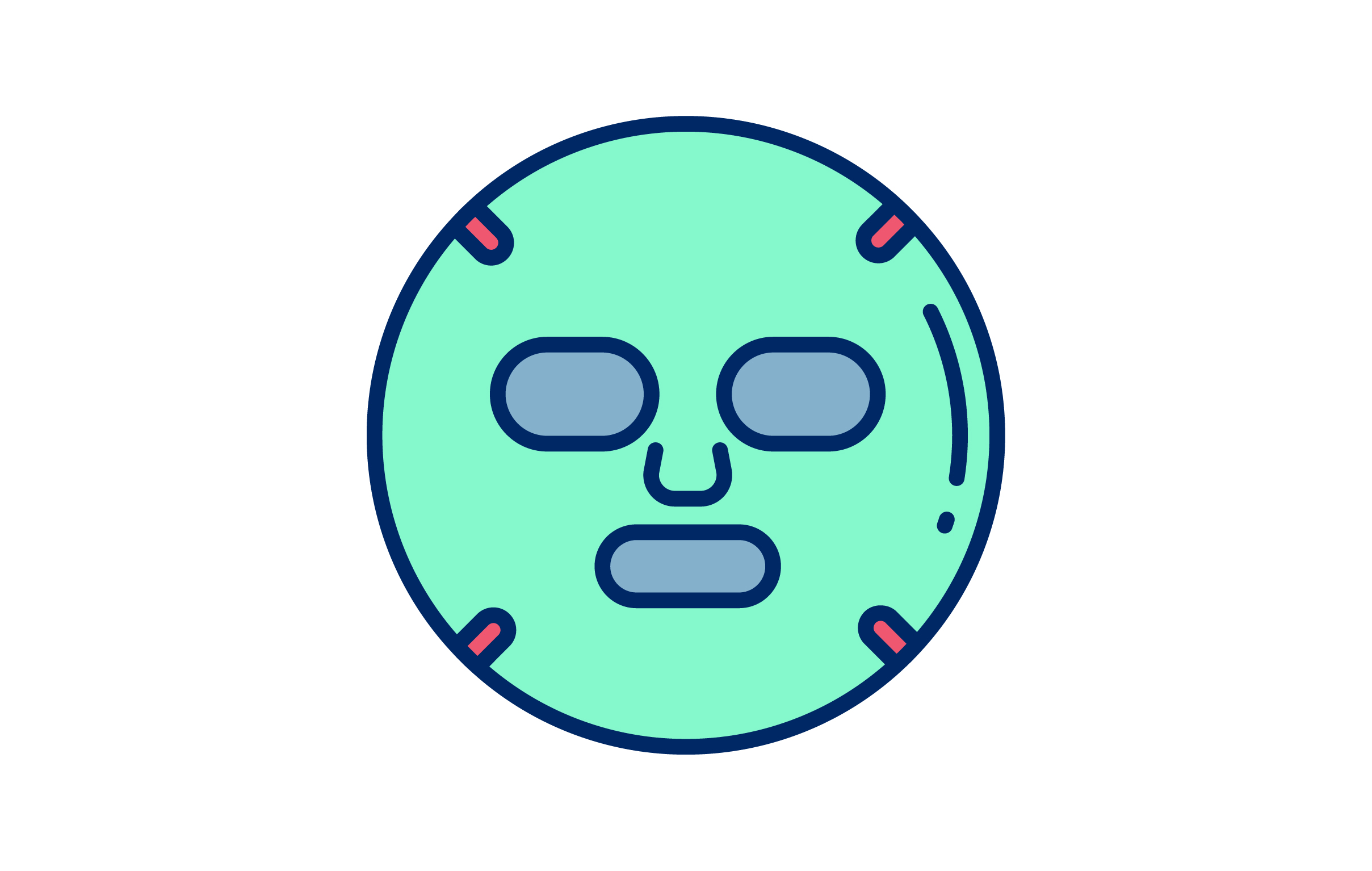 Download Free Facial Mask Graphic By Matfine Creative Fabrica for Cricut Explore, Silhouette and other cutting machines.