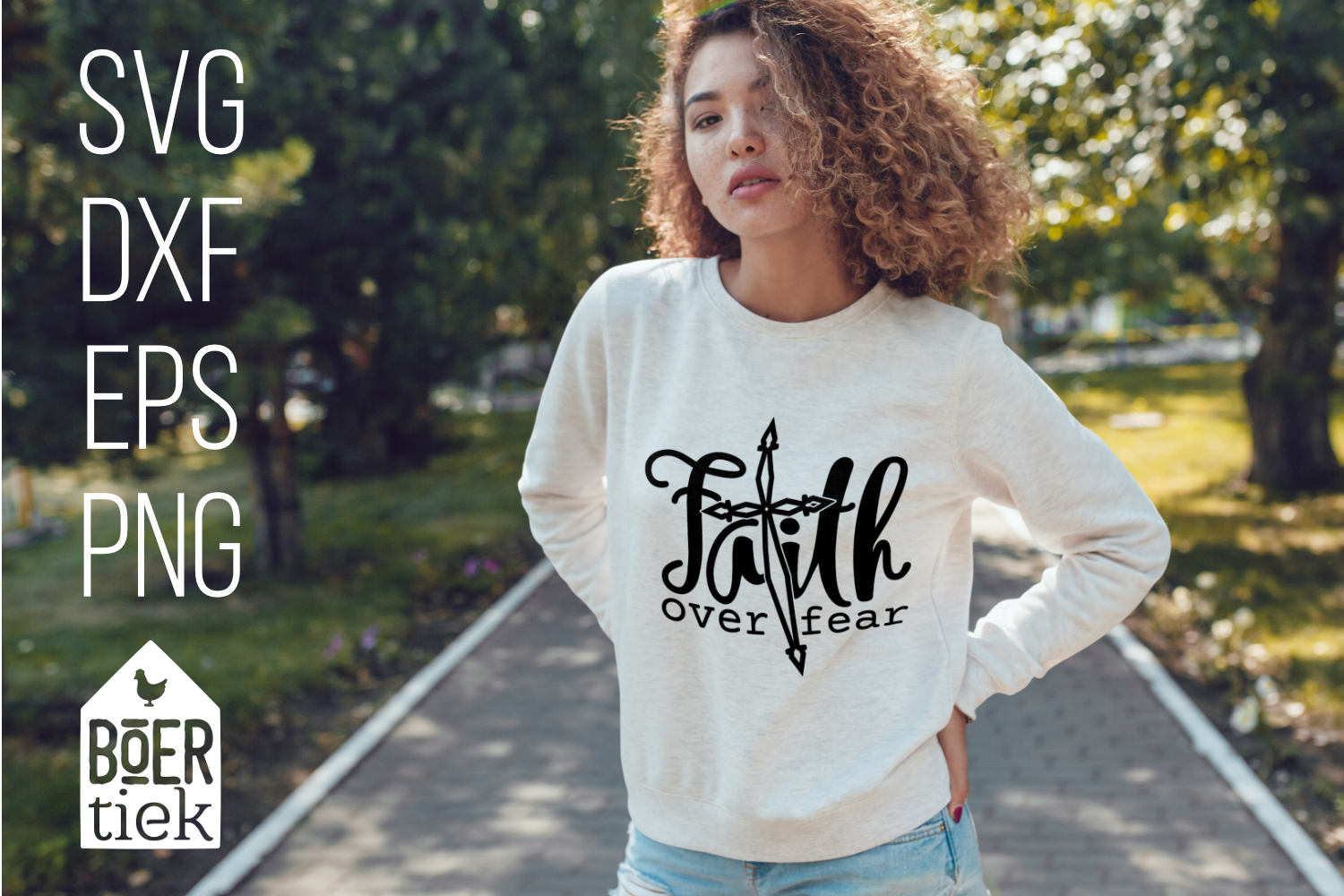 Download Free Faith Over Fear Graphic By Boertiek Creative Fabrica for Cricut Explore, Silhouette and other cutting machines.