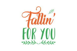 Falling Fallin For You Quote Svg Cut Graphic By Thelucky