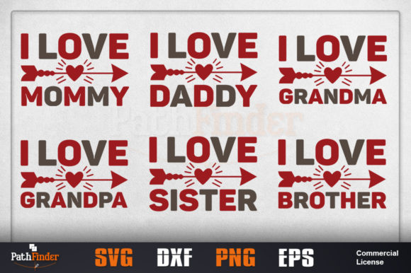 Download Free I Love Grandma Svg Design Graphic By Pathfinder Creative Fabrica for Cricut Explore, Silhouette and other cutting machines.