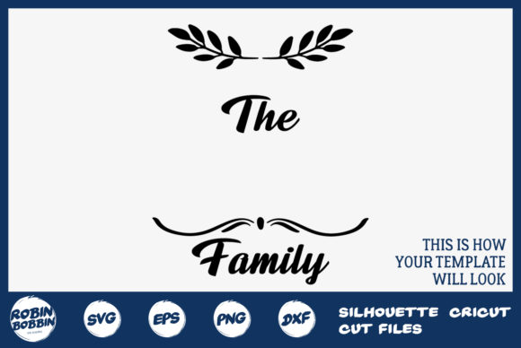 Download Free Family Monogram Sign Graphic By Robinbobbindesign Creative Fabrica for Cricut Explore, Silhouette and other cutting machines.