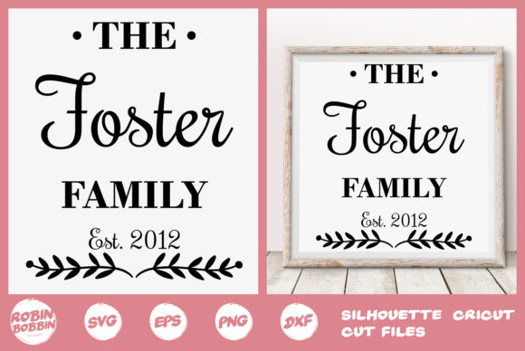 Download Free Personalized Family Poster With Antler Horns Graphic By for Cricut Explore, Silhouette and other cutting machines.