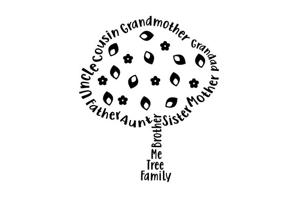 Download Free Family Tree Word Art Svg Cut File By Creative Fabrica Crafts for Cricut Explore, Silhouette and other cutting machines.