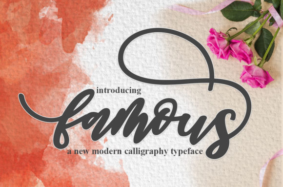 Print on Demand: Famous Script Script & Handwritten Font By Mrletters