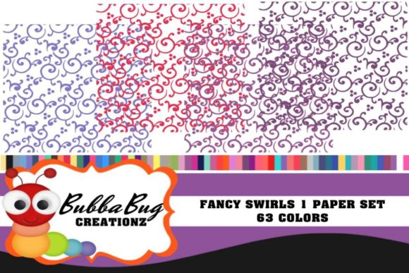 Fancy Girl Paper Set Graphic Patterns By BUBBABUG