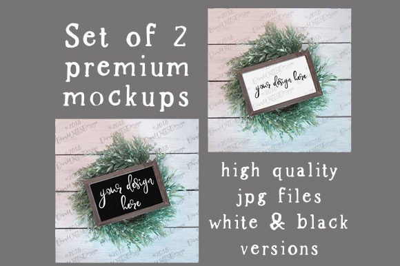 Farmhouse Mock-Up Set of 2 Graphic Product Mockups By Diva Watts Designs - Image 3