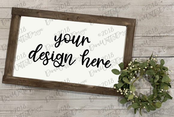 Farmhouse Mock-Up Wood Sign Set Graphic By Diva Watts Designs Image 2