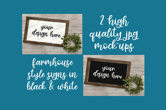 Farmhouse Mock-Up Wood Sign Set Graphic By Diva Watts Designs Image 3