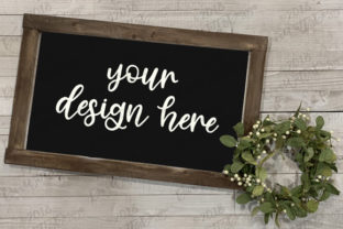 Farmhouse Mock-Up Wood Sign Set Graphic Product Mockups By Diva Watts Designs