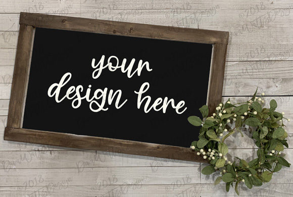 Farmhouse Mock-Up Wood Sign Set Graphic By Diva Watts Designs Image 1