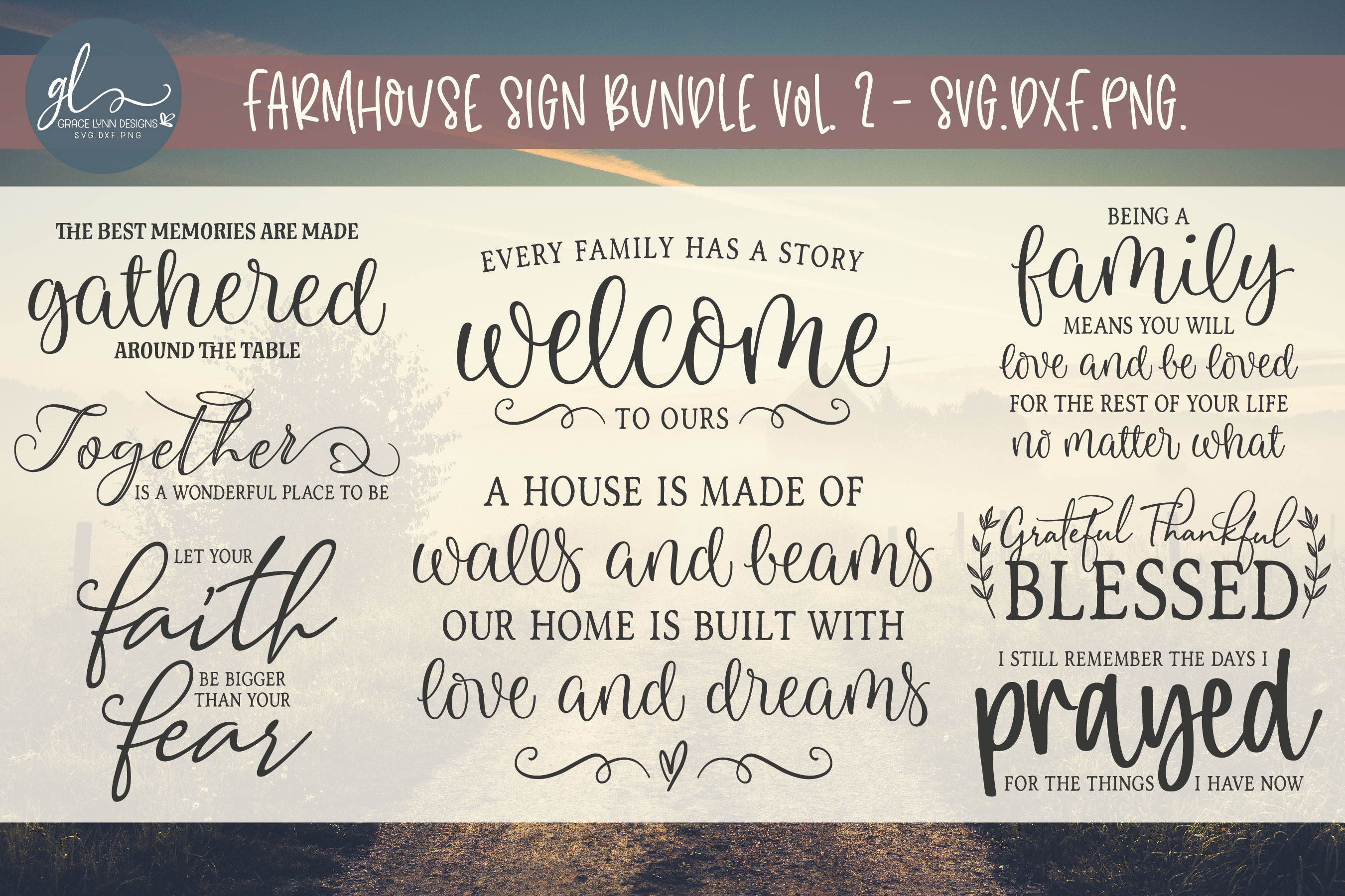 Download Free Farmhouse Bundle Vol 2 Grafico Por Gracelynndesigns Creative SVG Cut Files
