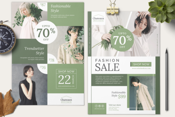 Fashion Flyer Graphic Downloadable Digital File