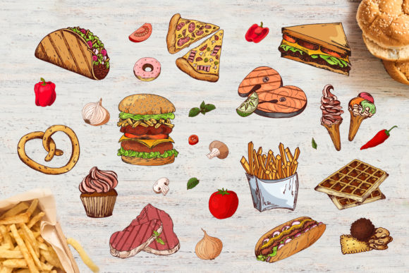 Fast Food Clipart Set Graphic Illustrations By tregubova.jul - Image 3