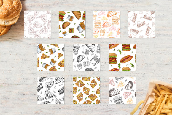 Fast Food Clipart Set Graphic Illustrations By tregubova.jul - Image 5