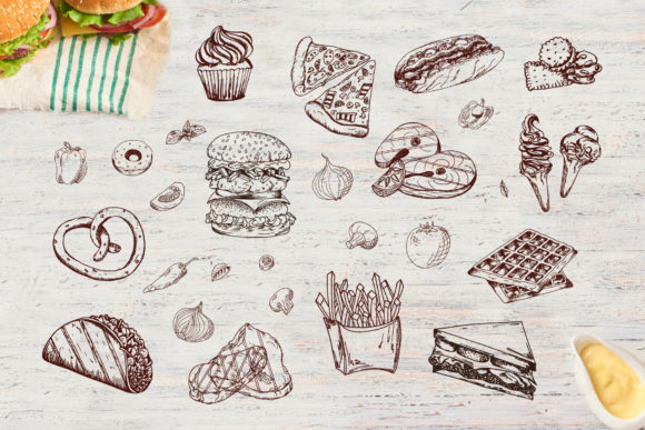 Fast Food Clipart Set Graphic Illustrations By tregubova.jul - Image 7
