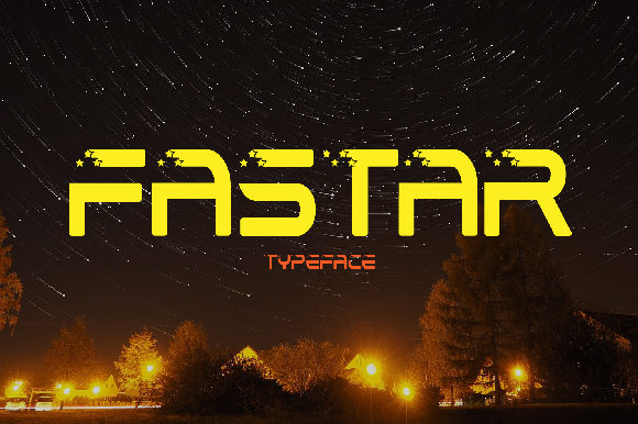 Print on Demand: Fastar Display Font By da_only_aan