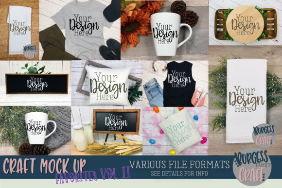 Favorite Craft Mock Up Bundle Graphic Product Mockups By burgessfamilycraft - Image 1