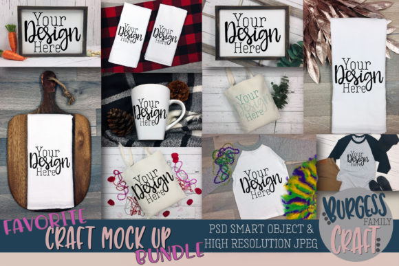 Favorites Craft Mock Up Bundle Graphic Product Mockups By burgessfamilycraft