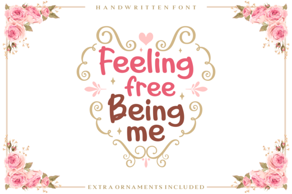 Print on Demand: Feeling Free Being Me Script & Handwritten Font By Adyfo (7NTypes) - Image 1