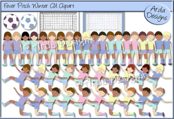 Print on Demand: Fever Pitch Winter CU Clipart Graphic Illustrations By Arda Designs