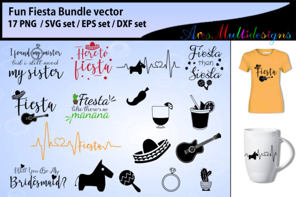 Print on Demand: Fiesta Fun Bundle Graphic Crafts By Arcs Multidesigns