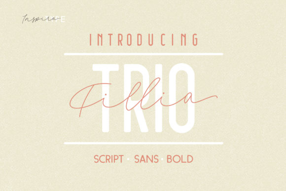 Print on Demand: Filia Script & Handwritten Font By InspiraType