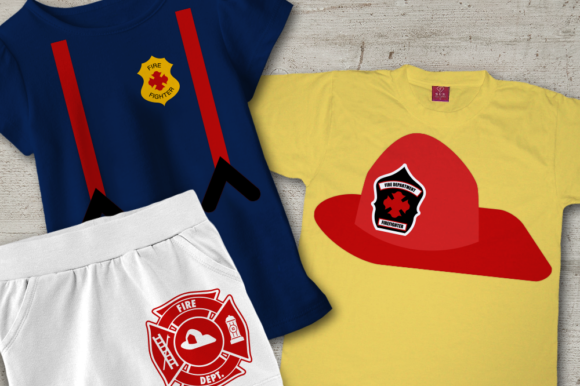 Fire Fighter Gráfico Crafts Por DesignedByGeeks