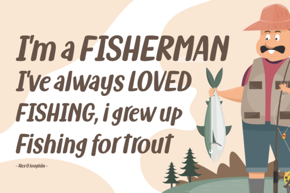 Print on Demand: Fish Grill Family Script & Handwritten Font By Situjuh - Image 2