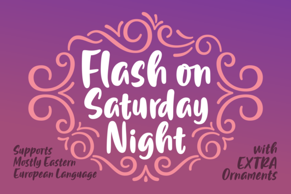 Print on Demand: Flash on Saturday Night Script & Handwritten Font By Situjuh